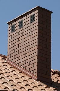 Komin murowany z cegły
