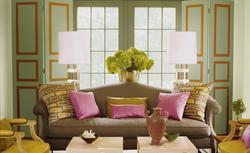 Zielony kolor ścian i dodatków - modne aranżacje wnętrz