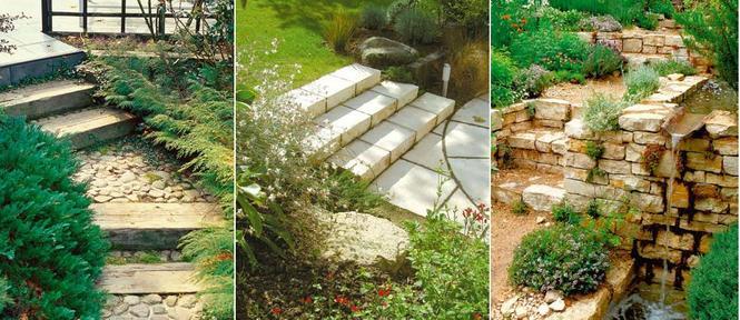Schody wkomponowane w ogród