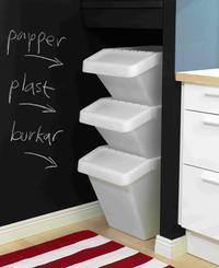 Pojemniki do segregacjiortowania śmieci w domu