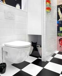 Ceramika sanitarna w łazience o niewielkich rozmiarach