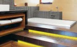 Dekoracyjne światło w łazience